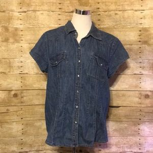 Fitted denim blouse